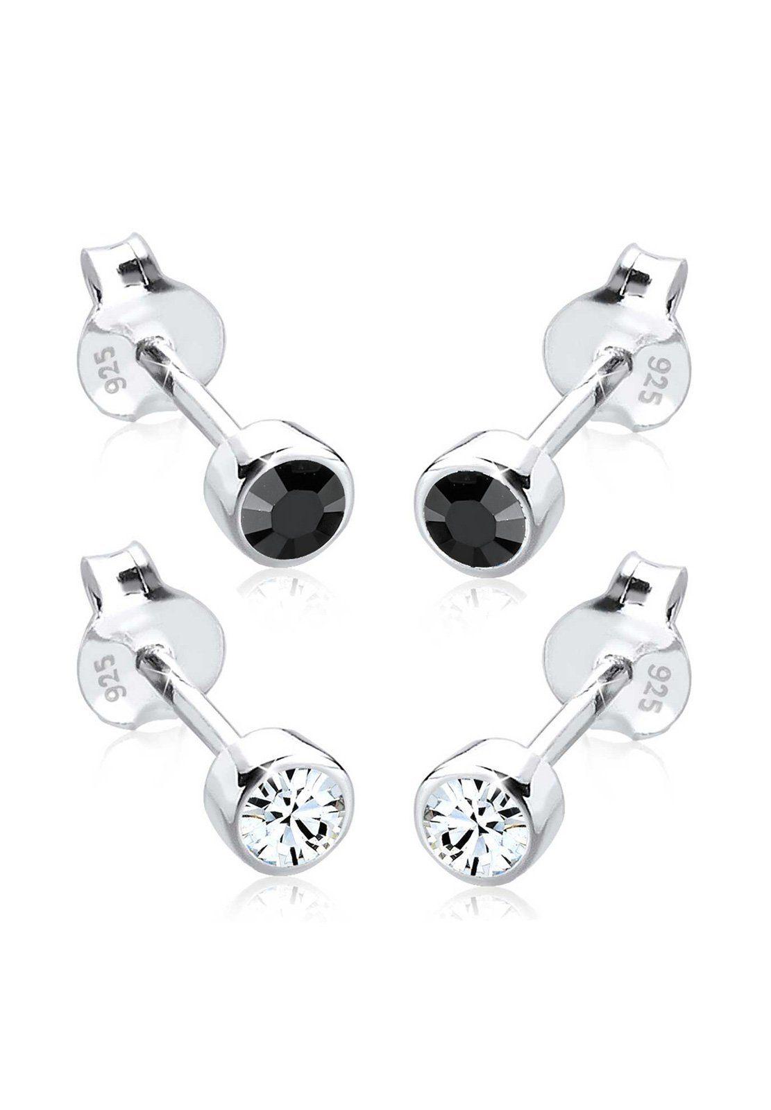 Elli Ohrringe »Funkelndes Set Swarovski® Kristalle 925 Silber«