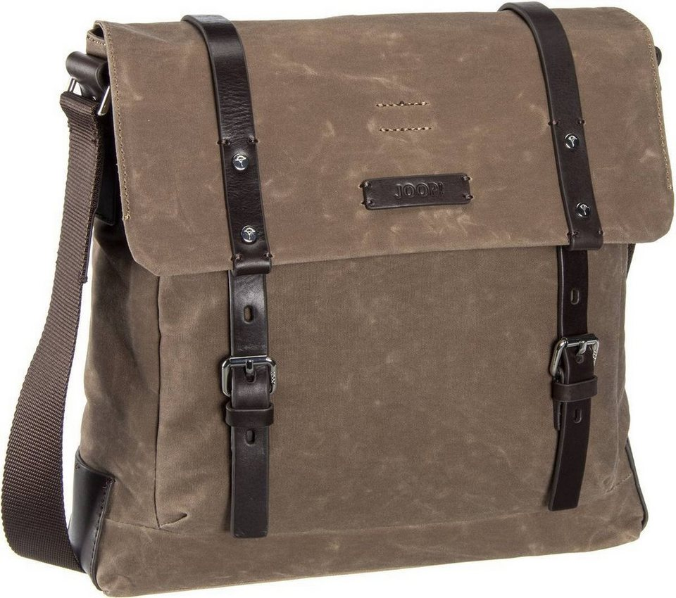 Joop Waxed Canvas Belos Flap Bag in Nature