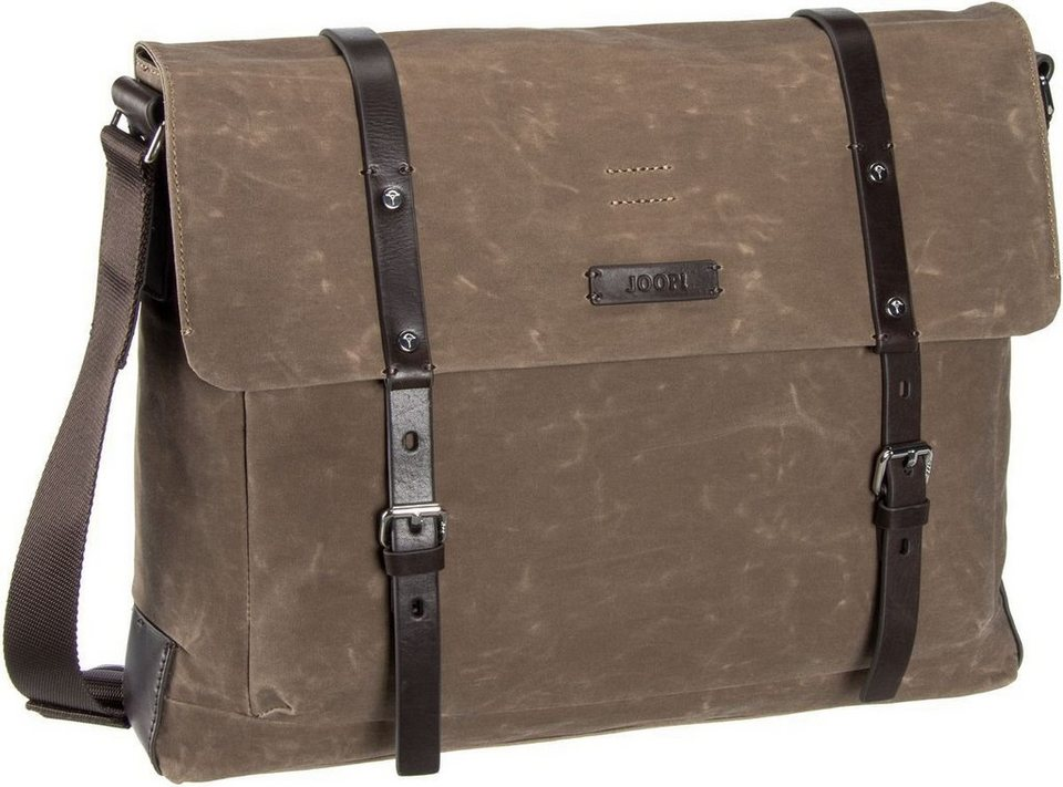 Joop Waxed Canvas Kimon Flap Bag in Nature