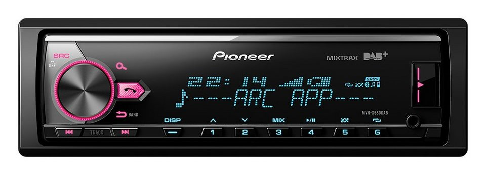 PIONEER 1-DIN Digital Media Receiver »MVH-X580DAB« in schwarz