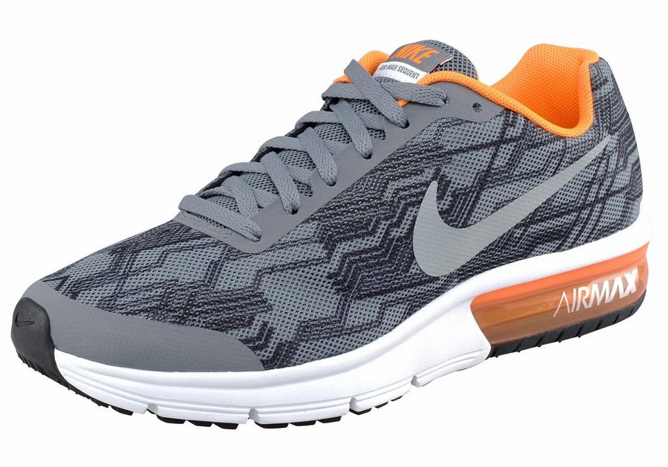 Nike »Air Max Sequent Print« Sneaker in grau-schwarz-orange