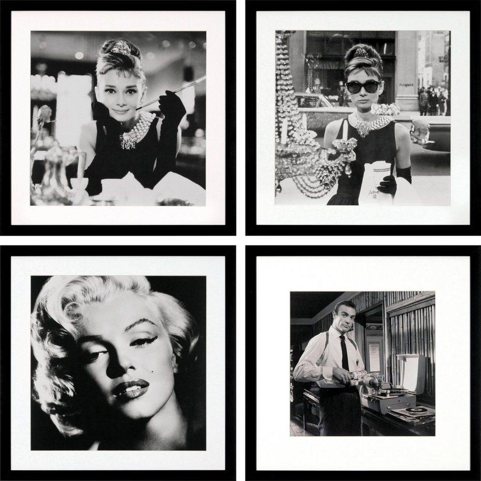 g c bild gerahmt archive celebrities 4x 40 40 cm online. Black Bedroom Furniture Sets. Home Design Ideas