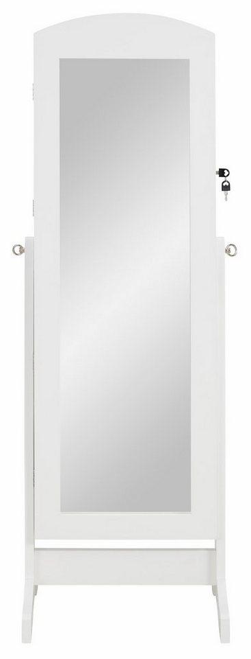 Home affaire Stand-Schmuckschrank mit Spiegel in weiß