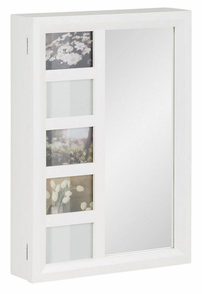 home affaire schmuckschrank mit spiegel und bilderrahmen online kaufen otto. Black Bedroom Furniture Sets. Home Design Ideas