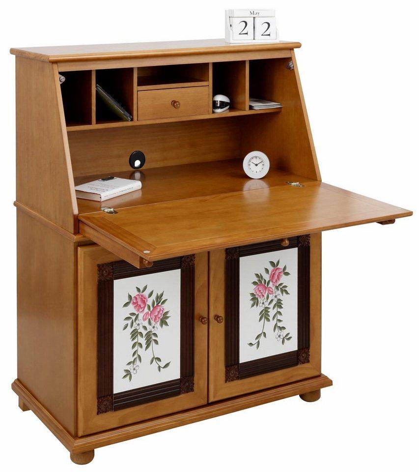home affaire sekret r breite 95 cm handbemalt mit blumenmotiv online kaufen otto. Black Bedroom Furniture Sets. Home Design Ideas