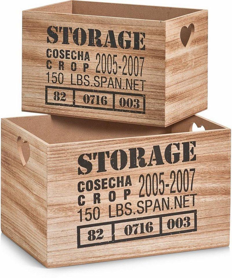 Home affaire Aufbewahrungskiste »Storage« in braun
