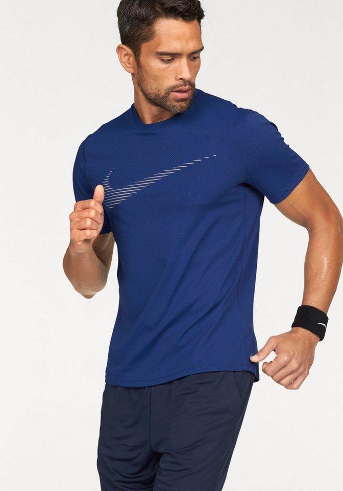 Nike Laufshirt »DRY CONTOUR TOP SS GPX« in dunkelblau