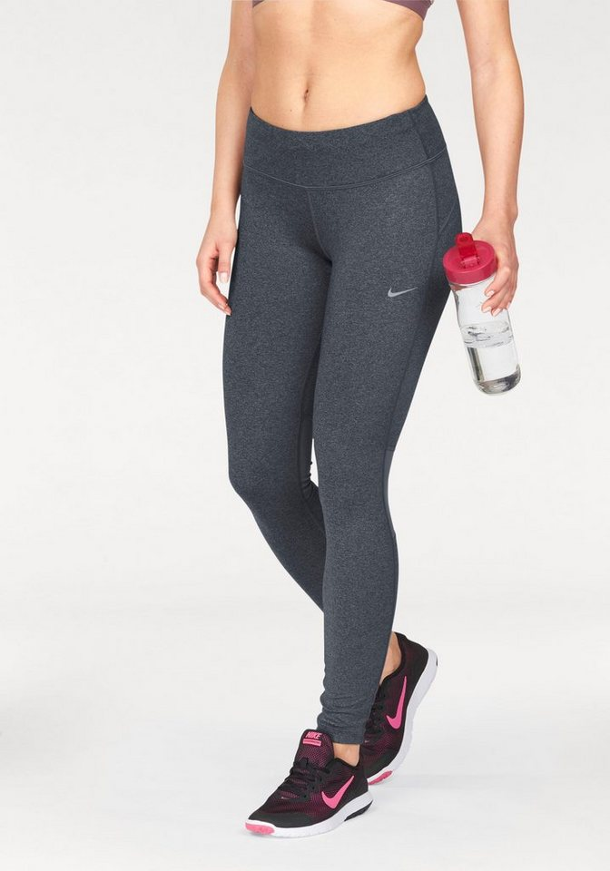 Nike Funktionstights »DRI-FIT EPIC RUN TIGHT« mit reflektierenden Details in grau-meliert