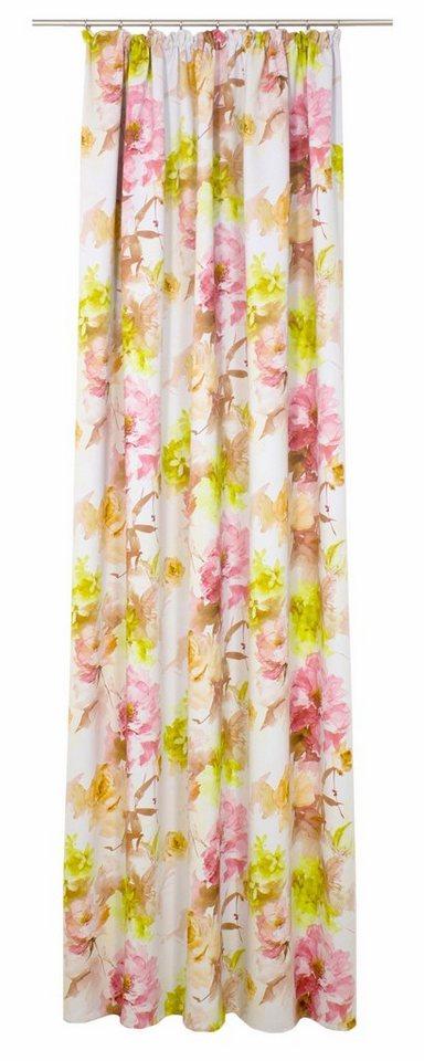 Vorhang, WIRTH, »Molinella«, mit Kräuselband (1 Stück) in rosa