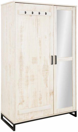 Home affaire Garderobenschrank »Santos« mit besonderen Türfronten und 1 Spiegel, viele Stauraummöglichlkeiten, Höhe 180 cm