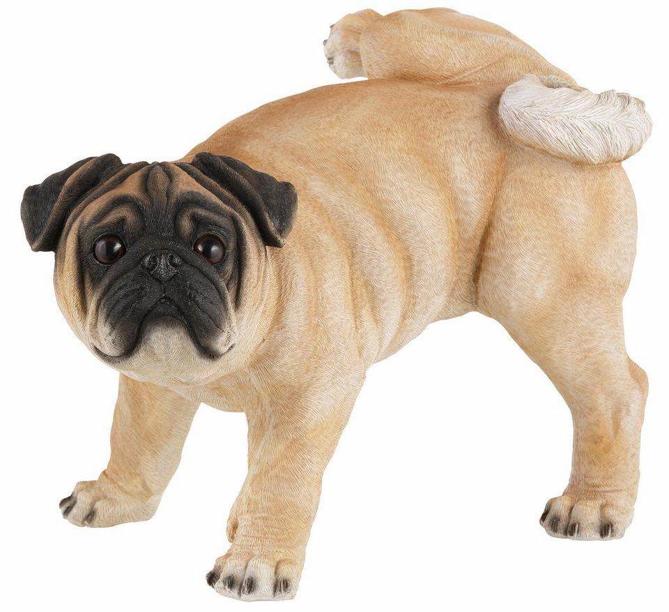 Home affaire Dekofigur »Hund Mops« in braun