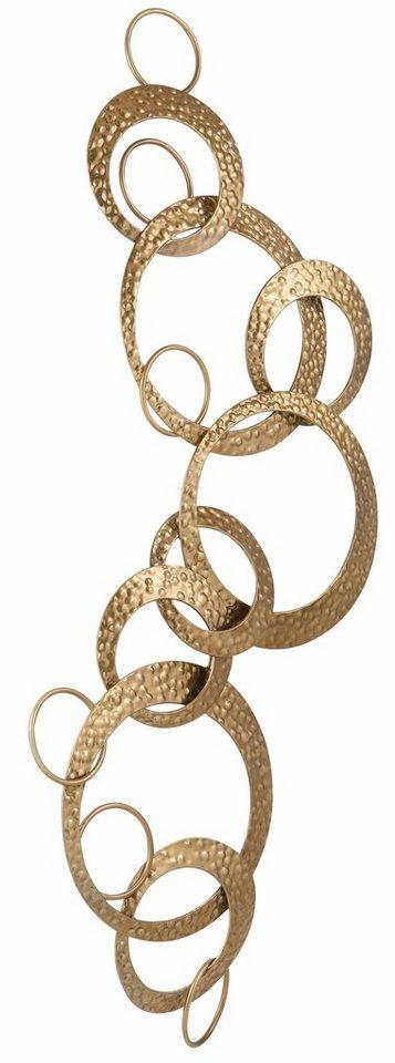 Home affaire Wanddekoration »Kreise« in gold