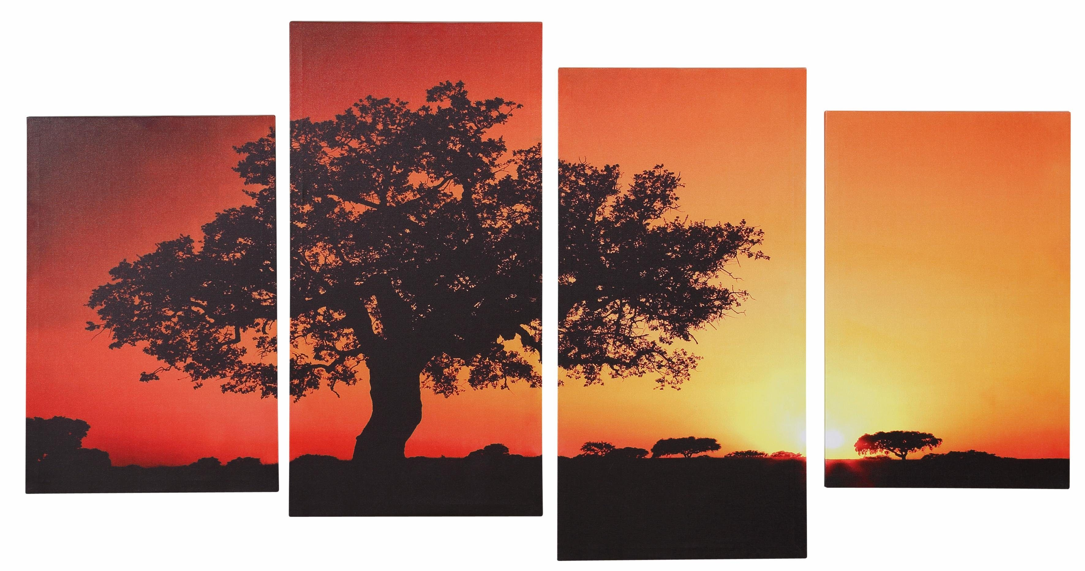 Home affaire Keilrahmenbilder »Afrika« (4-tlg.)