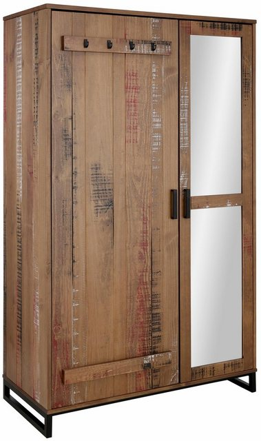 Flurschränke und Regale - Home affaire Garderobenschrank »Santos« mit besonderen Türfronten und 1 Spiegel, viele Stauraummöglichlkeiten, Höhe 180 cm  - Onlineshop OTTO