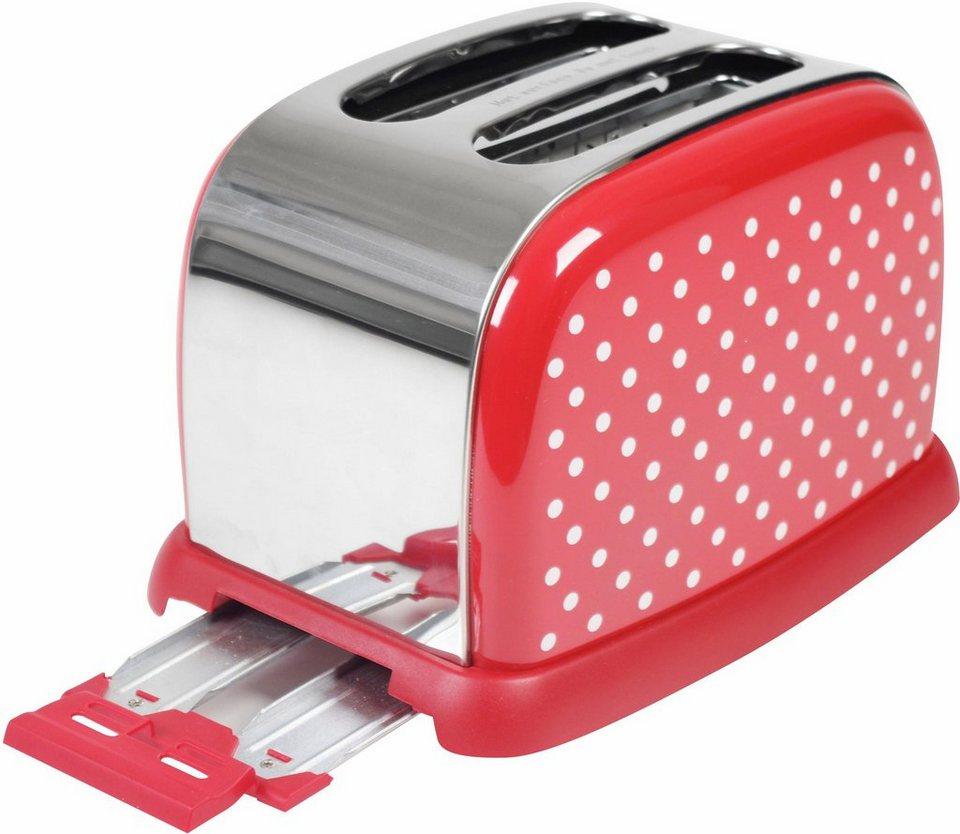 Team-Kalorik Toaster »TKG TO 1008 RWD«, 950 Watt in rot