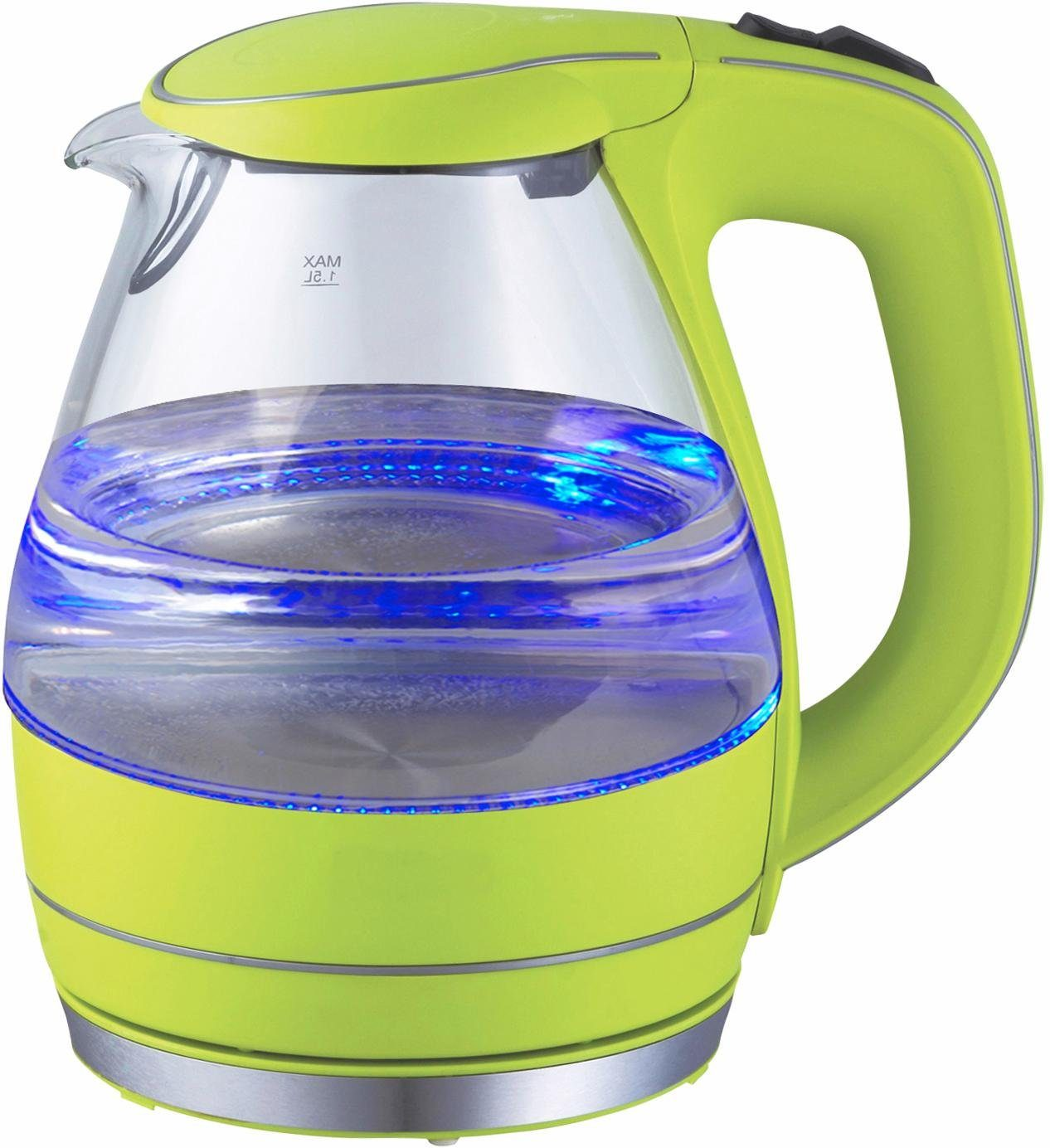 Team Kalorik Wasserkocher Glas JK1022AG, 1,5 l, 2200 W
