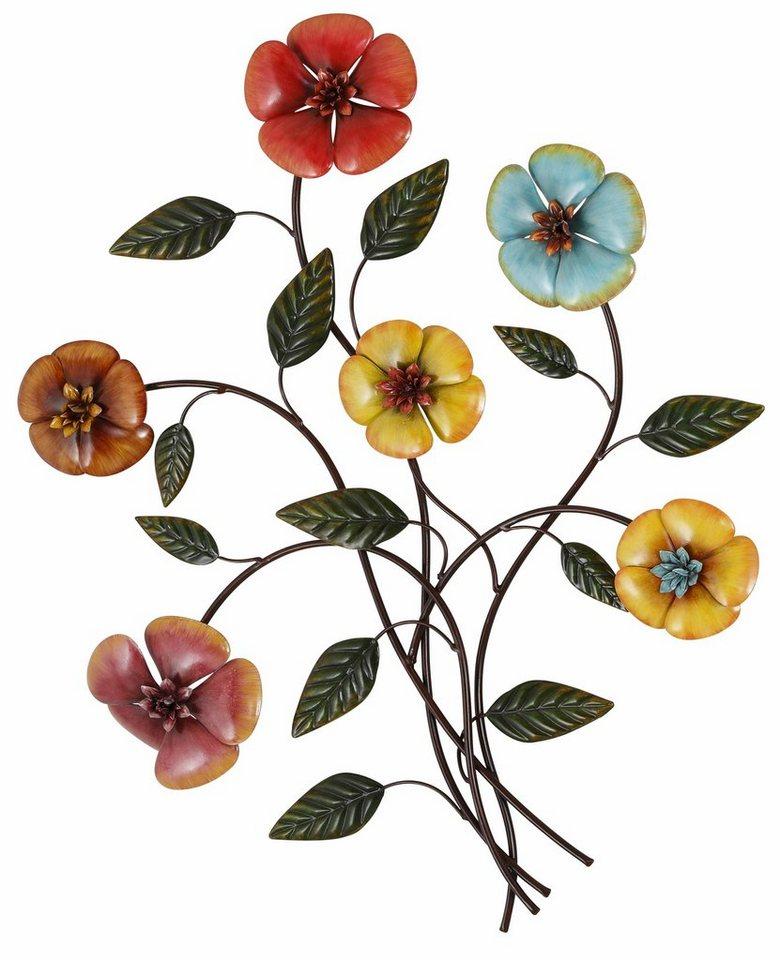 Home affaire Wanddekoration »Blumenstrauß« in bunt