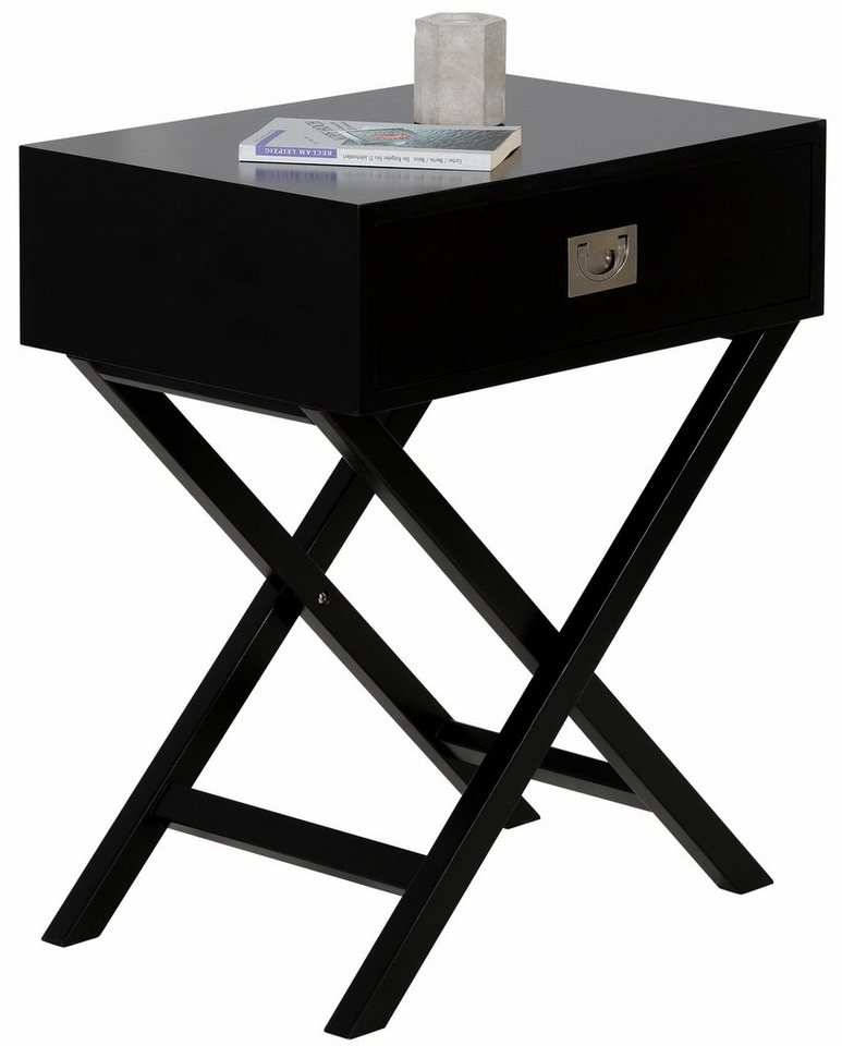 home affaire beistelltisch mit schublade ma e b t h 50. Black Bedroom Furniture Sets. Home Design Ideas
