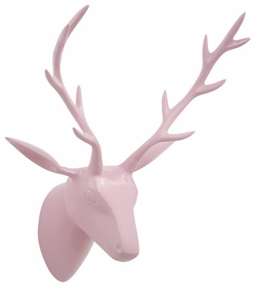 Home affaire Wanddekoration »Geweih« in rosa