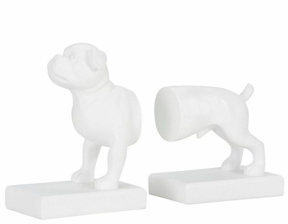 Home affaire Buchstütze »Hund« in weiß
