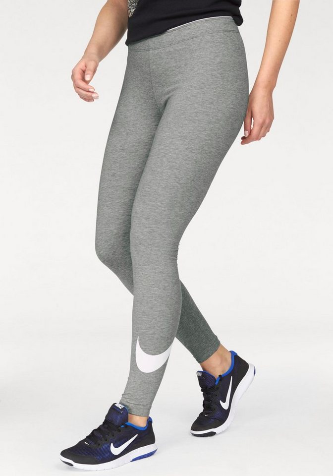 Nike Leggings »CLUB LEGGING-LOGO 2« in grau-meliert