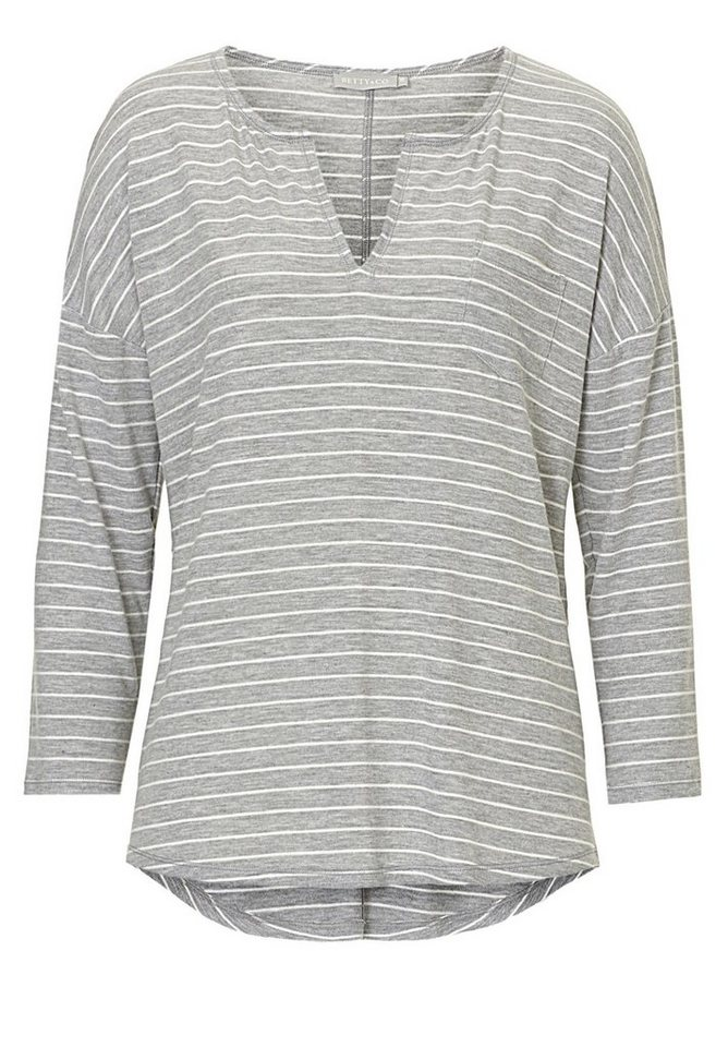 Betty&Co Shirt in Grau/Weiß - Grau