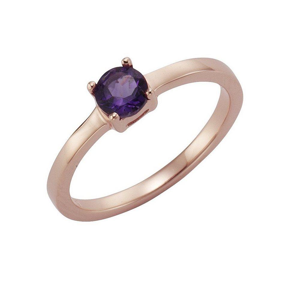 Zeeme Ring »925/- Sterling Silber mit Amethyst« in rot