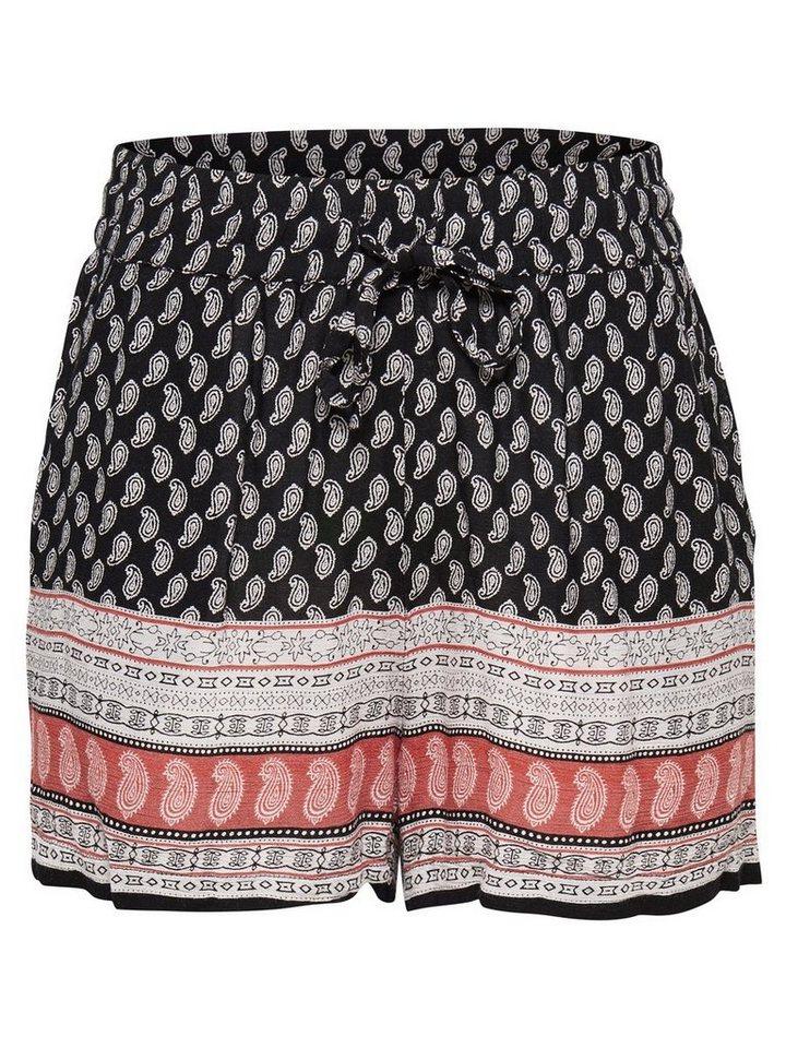Only Bedruckte Shorts in Black