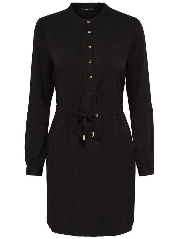 Only Detailliertes Kleid mit langen Ärmeln in Black