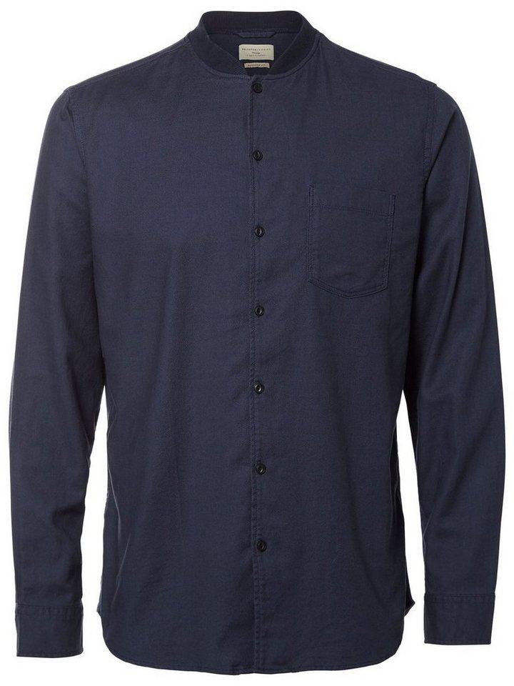 Selected Regular-Fit- Hemd in Blueberry
