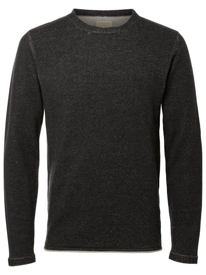 Selected O-Ausschnitt- T-Shirt in Black