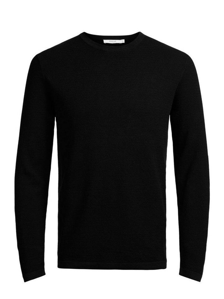 Jack & Jones Mikrostruktur- Pullover in Black