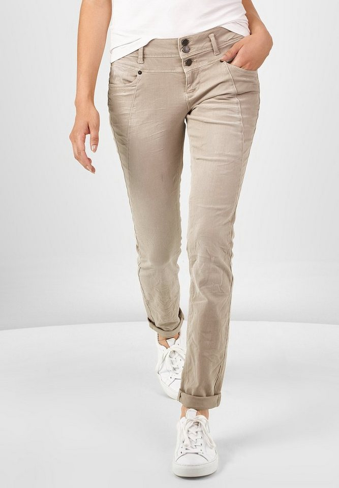 Street One Loose Fit Coloured Denim Rob in bisque sand wash