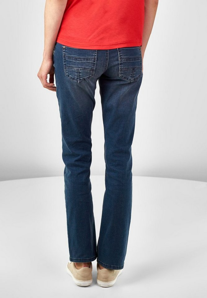 Street One Casual Fit Denim Georgia in blue wash high low
