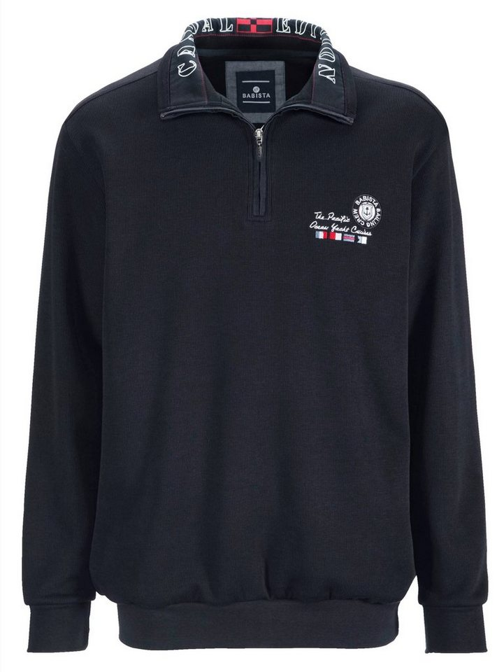 Babista Sweatshirt mit modischem Druck im Kragen in marine