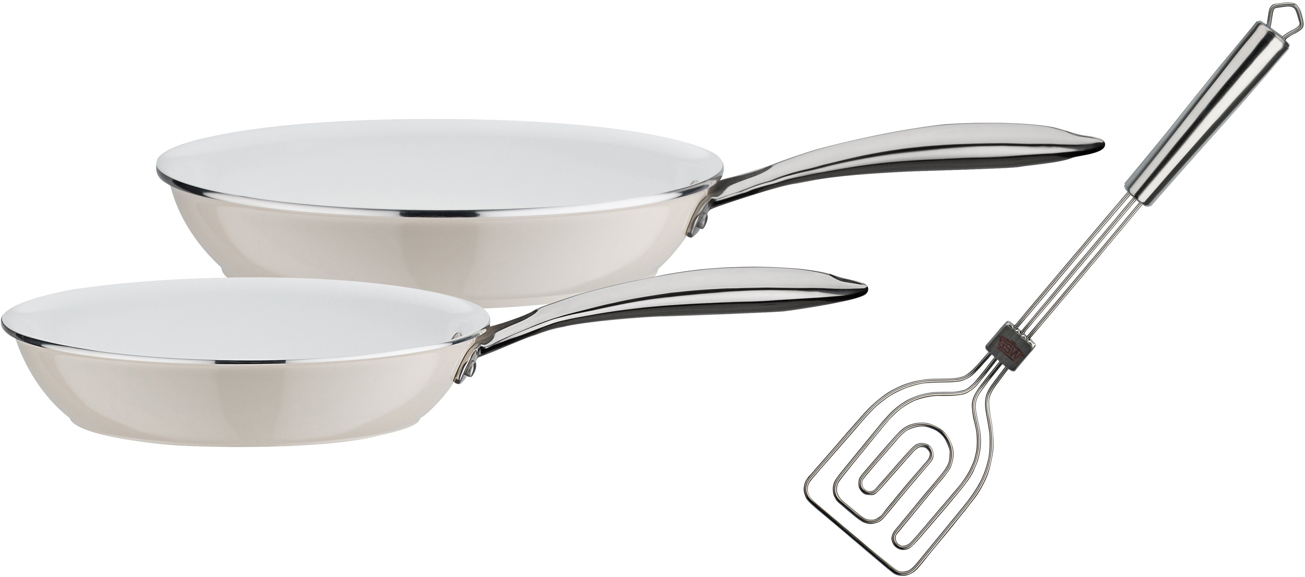 GSW Pfannen-Set, Aluminium Induktion, 3 Teile, »CERAMICA color«