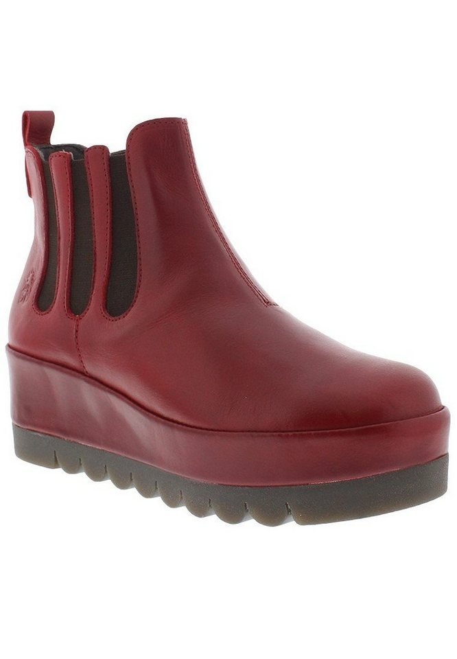 FLY LONDON Stiefelette,Wedges,Plateauschuhe »BAIL674FLY« in rot