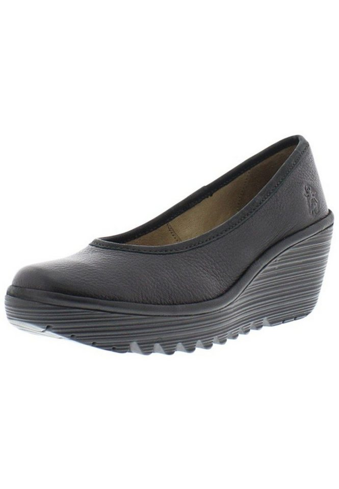 FLY LONDON Keilpump »Yalu mousse/cupido« in schwarz