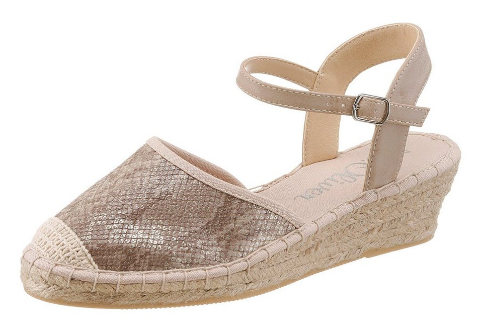 s.Oliver RED LABEL Espadrille in taupe