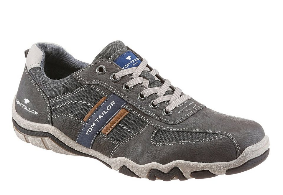 Tom Tailor Sneaker im Used Look in grau-used