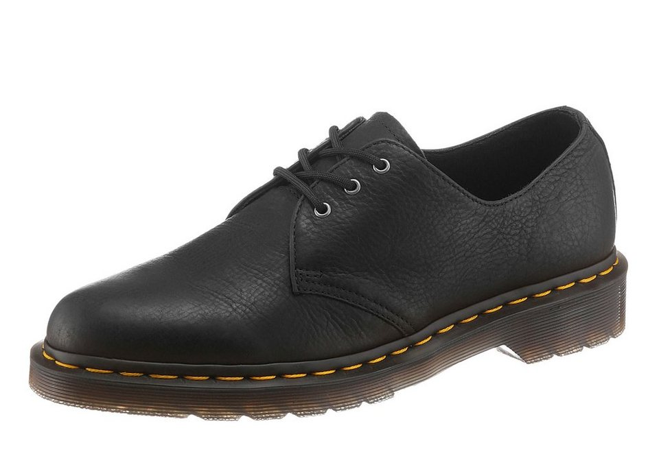 DR. MARTENS »3 Eye Shoe« Schnürschuh gepolsterte Lederinnensohle in schwarz