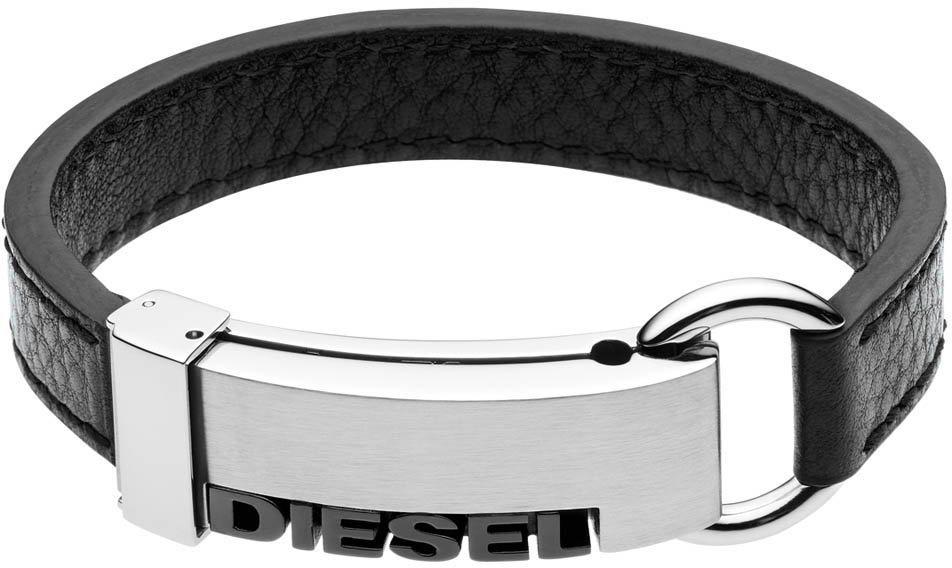 Diesel Armband, »DX0001040« in silberfarben-schwarz