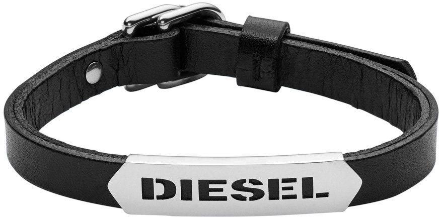 Diesel Armband, »Stackables, DX0999040« in silberfarben-schwarz