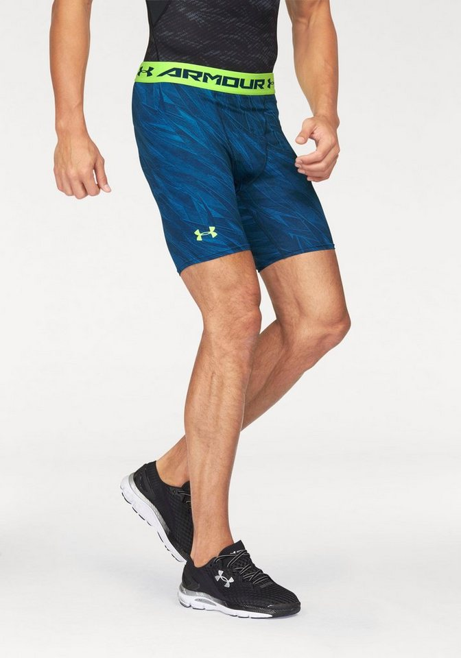 Under Armour® Funktionsshorts »UA HEATGEAR ARMOUR PRINTED COMPRESSION SHORT« in blau-grün