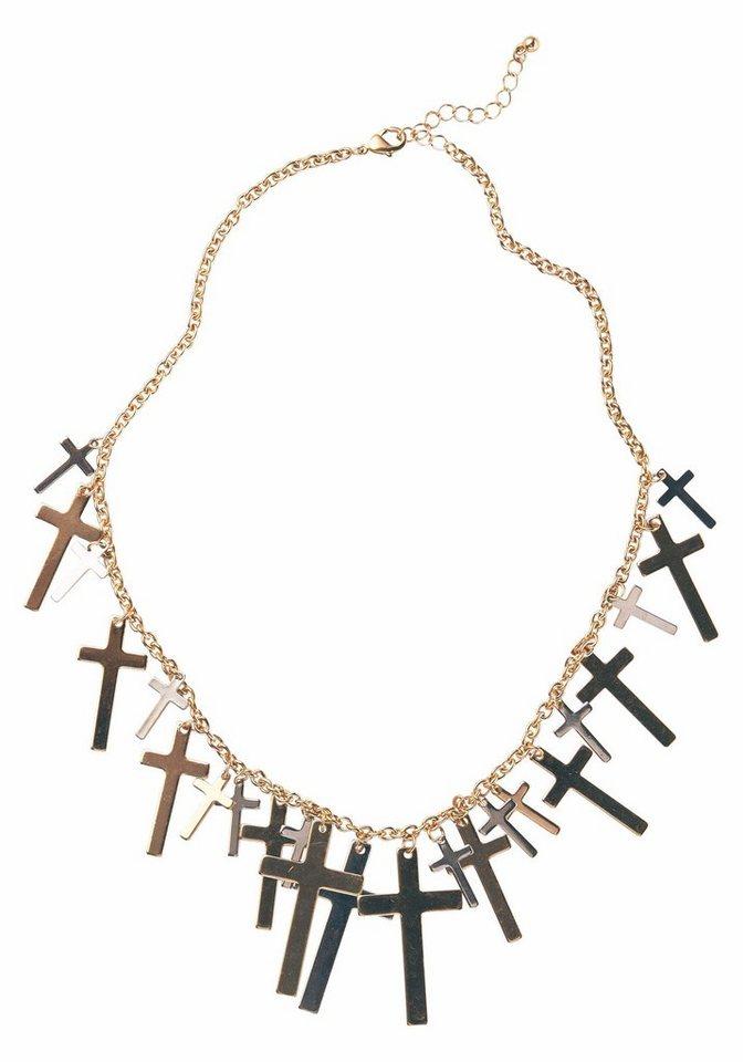 J. Jayz Gliederkette mit Kreuzen in goldfarben-silberfarben