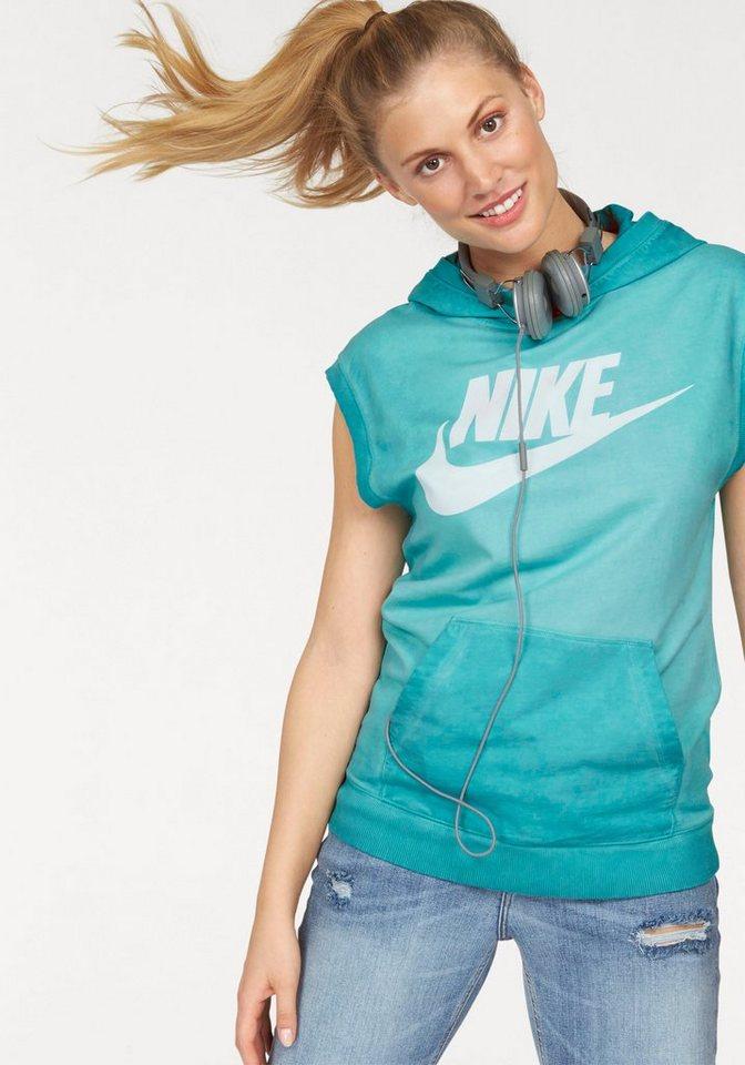 Nike SLEEVELESS PO HOODY WASH Kapuzensweatshirt in Petrol