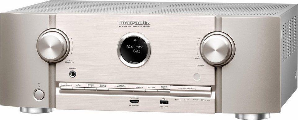 Marantz SR5011/N1 7.2 AV-Receiver (3D, Spotify Connect, Airplay, WLAN, Bluetooth) in silberfarben