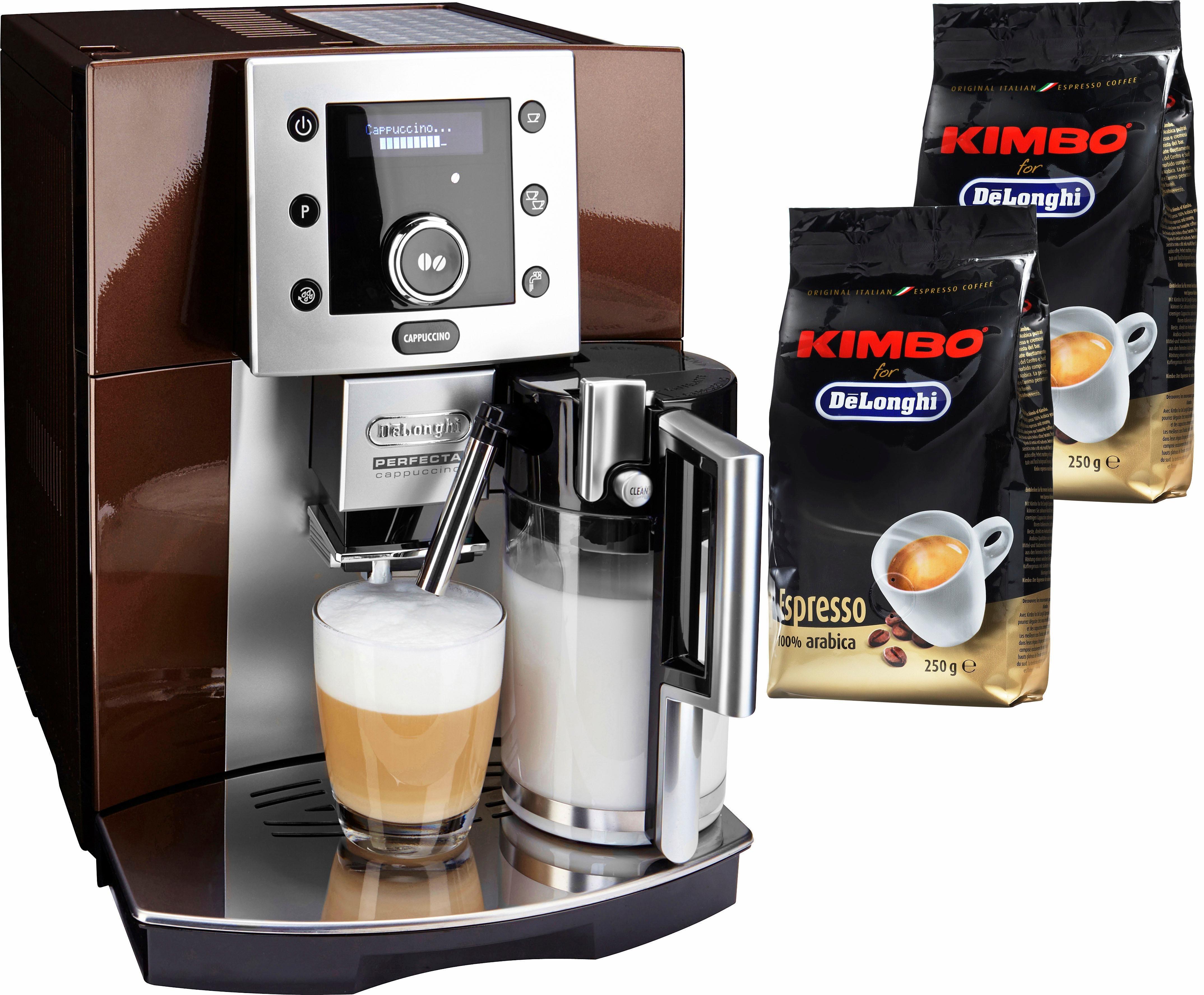 Kaffeevollautomat Perfecta ESAM 5550, integriertes Milchaufschäumsystem