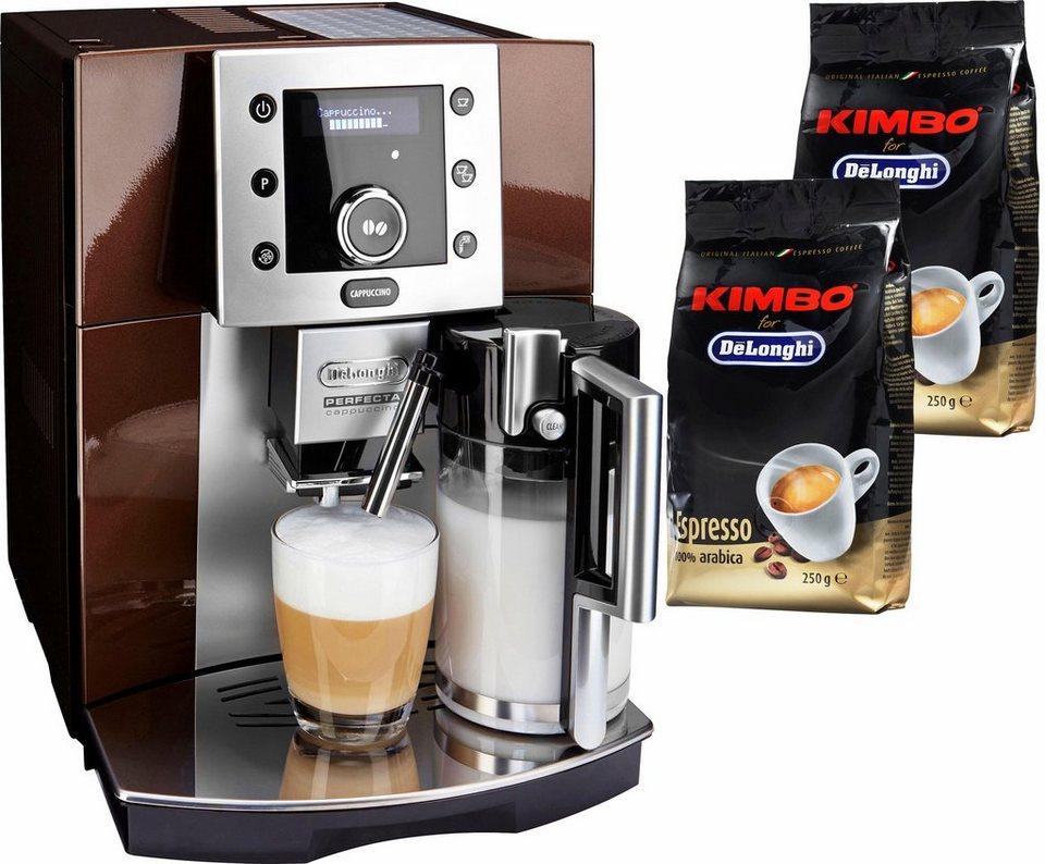 De'Longhi Kaffeevollautomat »Perfecta ESAM 5550« in braun-metallic