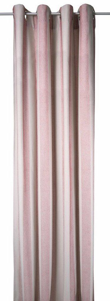Vorhang, TOM TAILOR, »GLAMOUR STRIPES« (1 Stück), Exklusiv bei OTTO in natur/rot